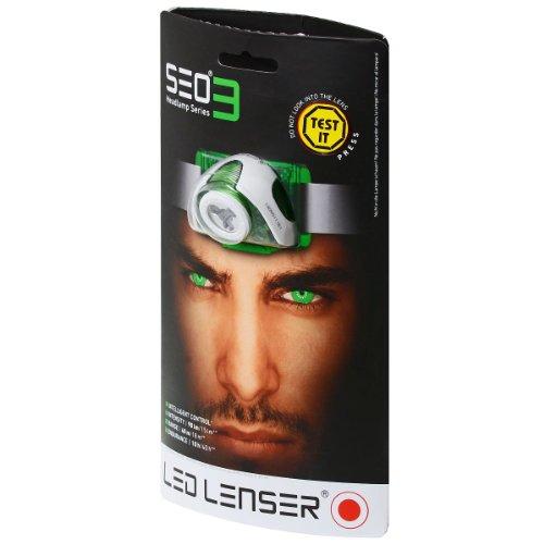 LED Lenser SEO3 Head Torch (Green) 1