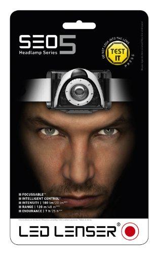 LED Lenser SEO5 Head Torch (Black) 2