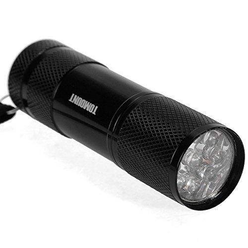 LINTERNA ANTROCHA de 9 LED LAMPARA Luz UV ULTRAVIOLETA 1