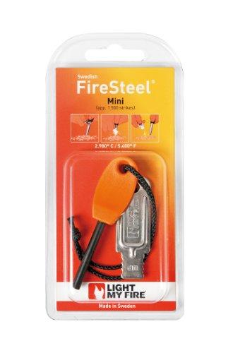 Light My Fire Feuerstahl Mini für 1.500 Zündungen - Pastilla de encendido para acampada, color naranja, talla S 1
