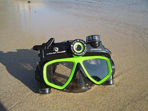 Liquid image 305G - Videocámara deportiva (12 Mp, 720p, 30 fps), gris y verde (importado) 1
