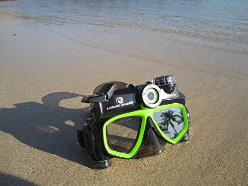 Liquid image 305G - Videocámara deportiva (12 Mp, 720p, 30 fps), gris y verde (importado) 2
