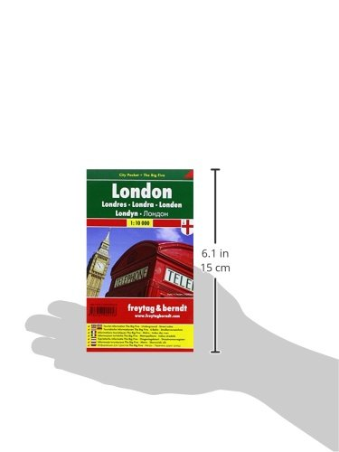 London City Pocket Map 1:10K (English, Spanish, French, Italian and German Edition) 2