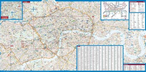 Laminated London Map by Borch (English Edition) 1