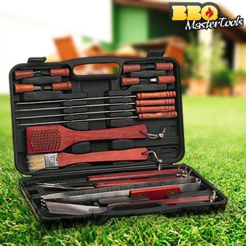 BBQ Master Tools - Maletin para barbacoas, color negro, (18 piezas) 8