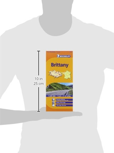 Brittany MH512 (Michelin) 1:200K (Maps/Regional (Michelin)) 2