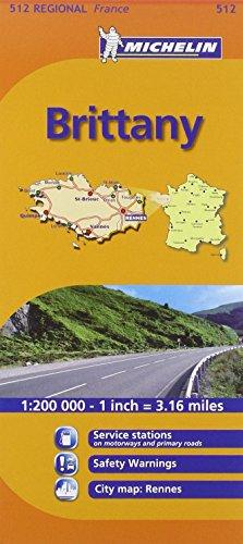 Brittany MH512 (Michelin) 1:200K (Maps/Regional (Michelin))