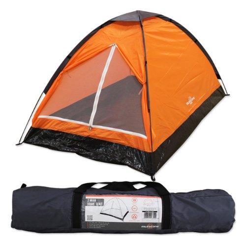 Tienda iglú para dos personas Milestone Camping – Naranja