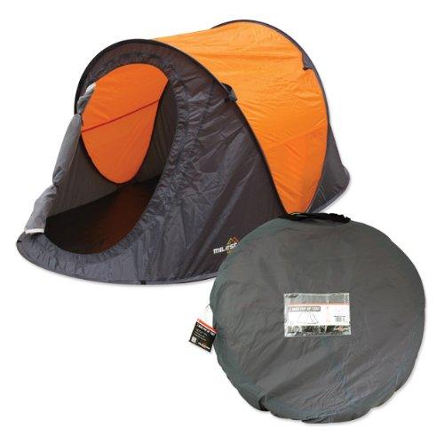 Tienda instantánea para dos personas Milestone Camping - Naranja 5