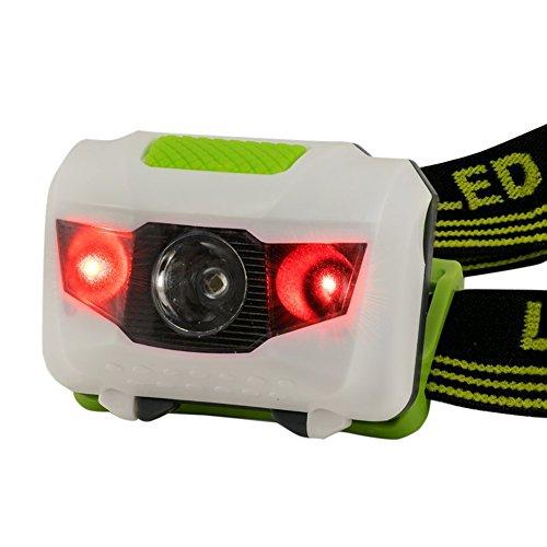 ZN - Linterna frontal para actividades deportivas (resistente al agua, incluye luz roja estroboscópica) 1