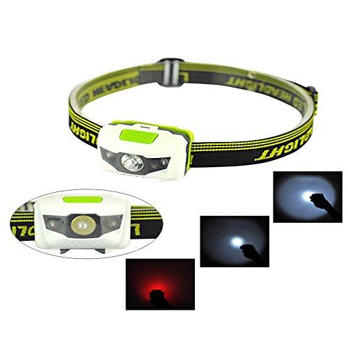 ZN – Linterna frontal para actividades deportivas (resistente al agua, incluye luz roja estroboscópica)