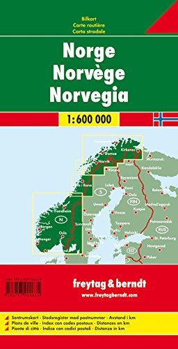 Norway 1:600K Road Map FB (English, French and German Edition) 1