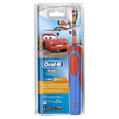 Oral-B Stages Power Kids – Cepillo de dientes eléctrico con los personajes de Cars o Aviones Disney