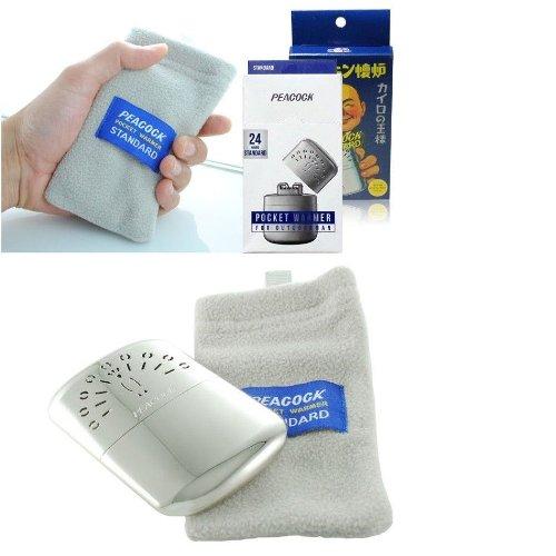 Hakkin Warmer Peacock Standard / Pocket Hand Warmer 24 Hours Made in Japan 3