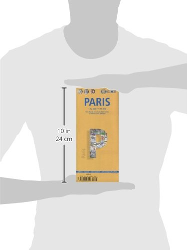 Laminated Paris Map by Borch (English, Spanish, French, Italian and German Edition) 3