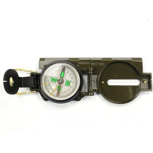 SODIAL(TM) Brujula Militar de Marcha Mil-Spec Tritio Iluminado 2