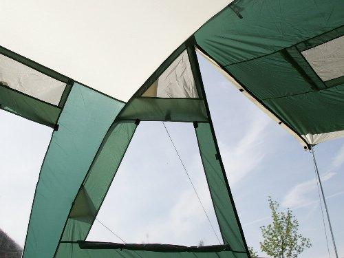 Skandika Jasper II - Tienda de campaña familiar, capacidad 6 (+9) personas, 615 x 400 cm, color verde 3