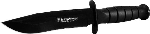 Smith & Wesson Search & Rescue CKSUR1 Clip Point Fixed Blade Knife Rubberized Aluminum Handle 1
