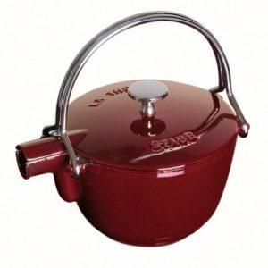 Staub Fonte 1650087 - Tetera/hervidor, forma redonda, color granate 6
