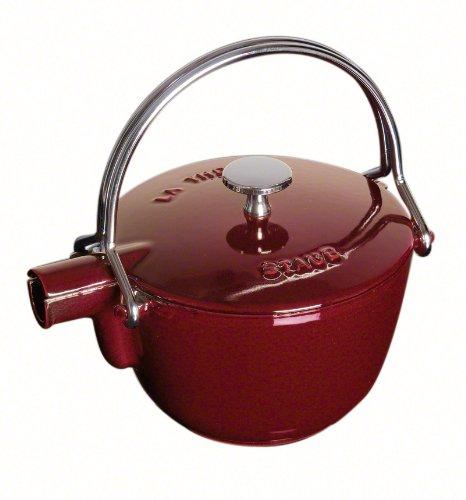Staub Fonte 1650087 - Tetera/hervidor, forma redonda, color granate 5