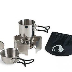 Tatonka Geschirr Alcohol Burner Set – Utensilio de cocina para acampada, color transparente