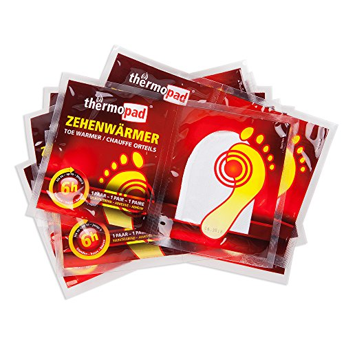 Thermopad Zehenwärmer - Calentadores de pies, color beige, talla 10 Pairs 4