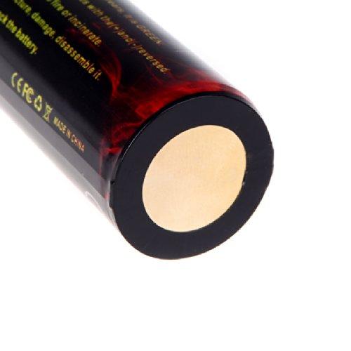 Lixada TrustFire - Juego de 2 pilas li-ion  recargables, 3.7 V,  5000 mAh 2