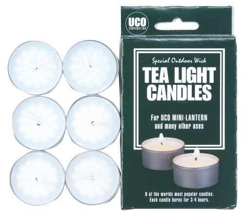 UCO Tealight Candles for Lanterns and General Use (Pack of 6) 2