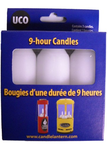 UCO 9+ Hour White Candles for Candle Lanterns (3.5 Inch), 3-Pack 1