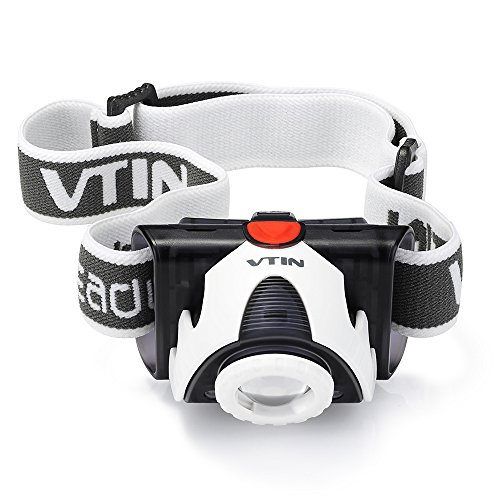 VicTsing Linterna frontal LED ultra brillante de 180 lúmen CREE XPG R3 con enfoque ajustable para actividades al aire libre 1