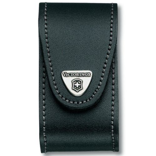 Victorinox - Black Leather Belt Pouch (5-8 Layer 1