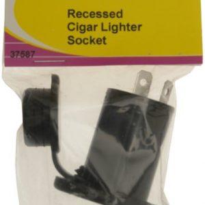 W4 - Encendedor de coche empotrable, color negro 5