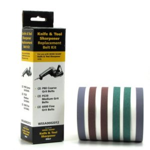 Work Sharp P80, P220 and 6000 Grit Belts For Sharpening by WORK SHARP