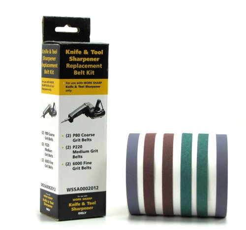 Work Sharp P80, P220 and 6000 Grit Belts For Sharpening by WORK SHARP 3