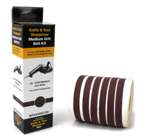 Work Sharp WSSA0002704 Medium 220 Replacement Belt Kit (WSKTS & WSKTS-KT Only) 1