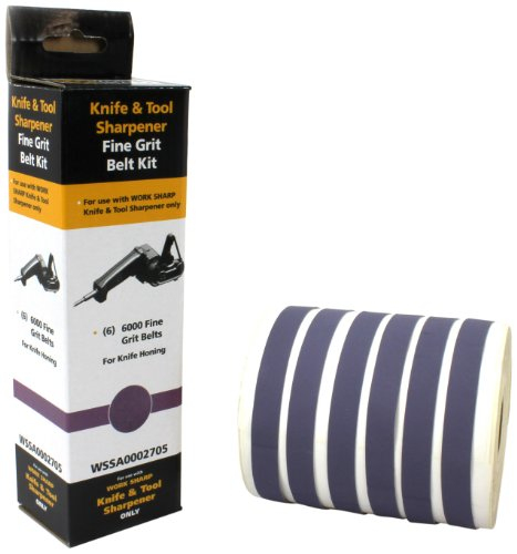 Work Sharp WSSA0002705 Fine 6000 Replacement Belt Kit (WSKTS & WSKTS-KT Only) 4