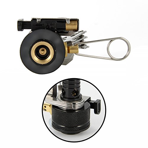 XCSOURCE Improved Lightweight Portable Folding Mini Stove with Electronic Ignition Picnic Camping Stove Mini Pick Flat Cylinders Integrated Automatic Ignition Burner OS348 1