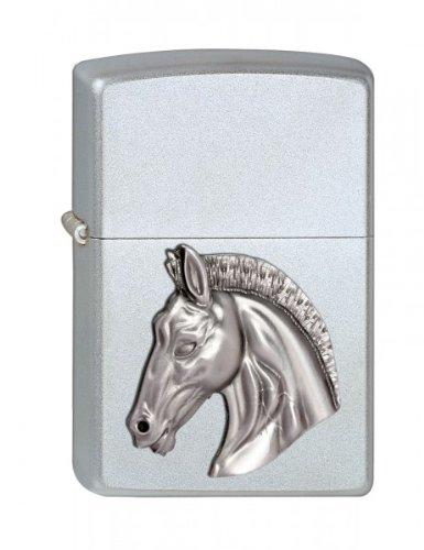 Zippo 2002846 205 - Mechero, diseño de cabeza de caballo en relieve 1