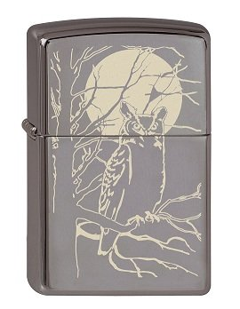 Zippo 2.003.086 Owl Moon Collection 2013 - Mechero, diseño de búho, color negro 4