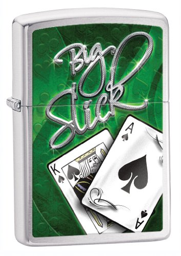 Zippo Big Slick Lighter Chrome - Mechero, color cromo cepillado 4