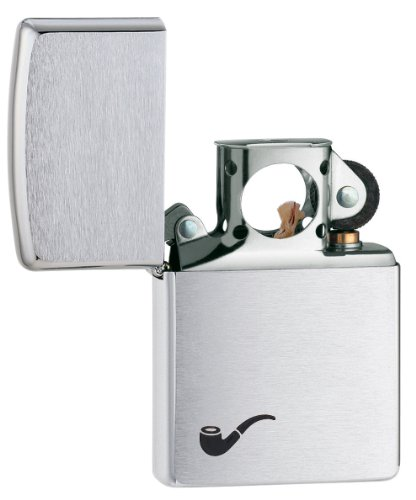 Zippo Pipe Lighter Brushed Chrome - Mechero, color cromo cepillado 4