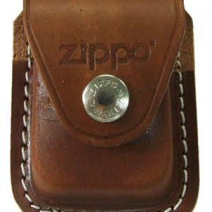 Zippo Pouch W/Clip Brown Bolsa de cuero 1
