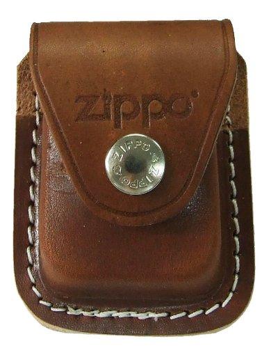 Zippo Pouch W/Clip Brown Bolsa de cuero 5