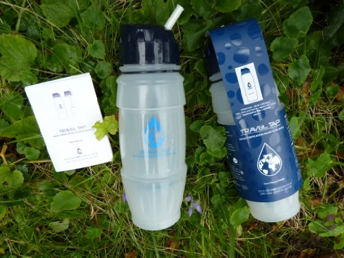 NEW 2016 Travel Tap 'Flip Spout ' 800ml pure water filter bottle - 1600 litres by drinksafe-systems 1