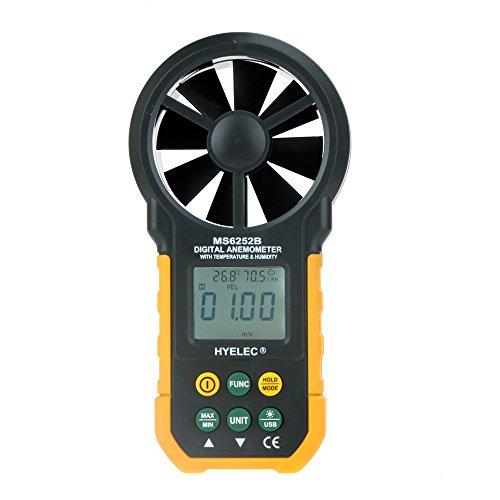 Andoer HYelec MS6252B Anemómetro digital multifuncional Volumen de Aire, Temperatura y la Humedad 3
