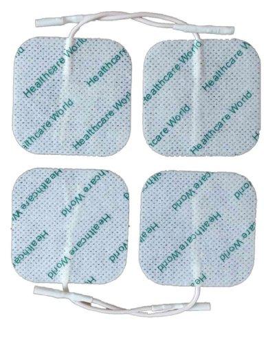 Electrodos Para TENS EMS Electroterapia Cuadrado TENS Electrodos x 16 Prorelax Dittmann Sanowell Saneo Sport Sanoe Vital 1