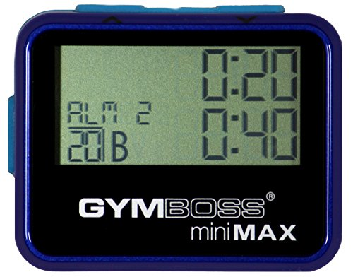 Gymboss miniMAX Interval Timer and Stopwatch - BLUE / BLUE METALLIC GLOSS 2