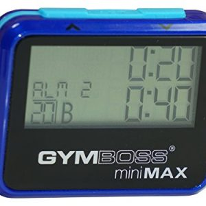 Gymboss miniMAX Interval Timer and Stopwatch - BLUE / BLUE METALLIC GLOSS 6