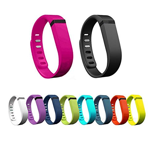 Hometalks 10pcs Sports Replacement Wrist Band with Clasps for Fitbit Flex(no Tracker)+1pcs Free Hometalks Carabiner--small 11