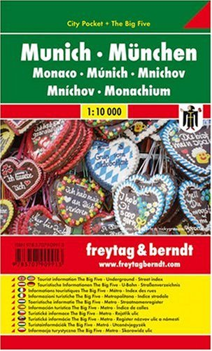 Munich City Pocket Map 1:10K FB (English, Spanish, French, Italian and German Edition) 12